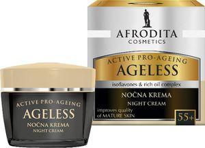 Krema za obraz proti gubicam Afrodita, Ageless Nočna krema 55+, 50 ml