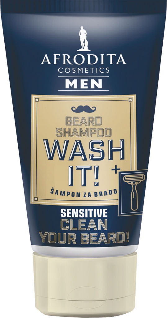 Šampon za brado in brke Afrodita, Wash it!, 125 ml