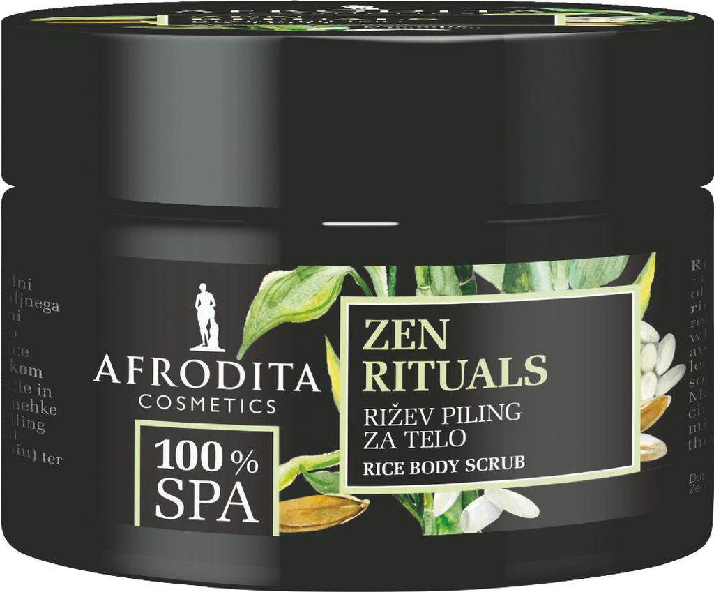 Piling rižev za telo Afrodita, 100 %  Spa Zen rituals, 200 ml