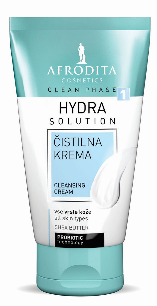 Čistilna krema za obraz Afrodita Clean phase Hydra, 125ml