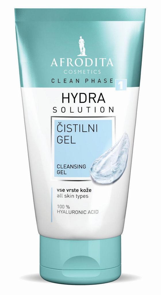 Gel za čiščenje obraza Afrodita, Clean Phase Hydra, 150 ml