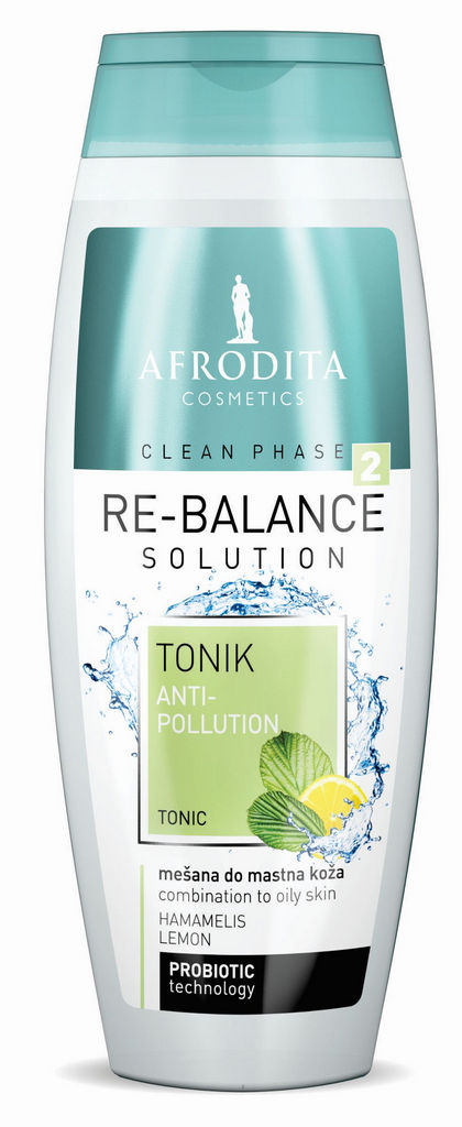 Tonik za obraz Afrodita, Clean Phase Rebalance, 200 ml