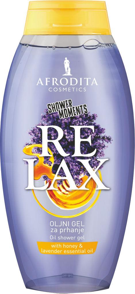 Gel za prhanje Afrodita, SHOWER MOMENTS Relax, 250 ml