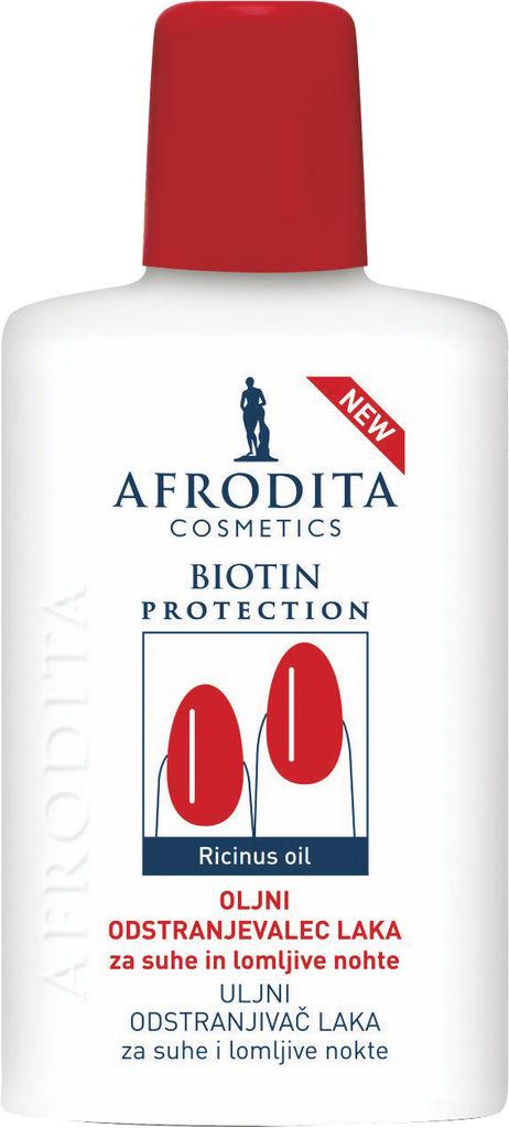 Odstranjevalec laka za nohte Afrodita, Biotin protection, 150 ml