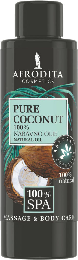 Olje masažno Afrodita, 100 SPA pure, coconut, 100% naravno, 150ml