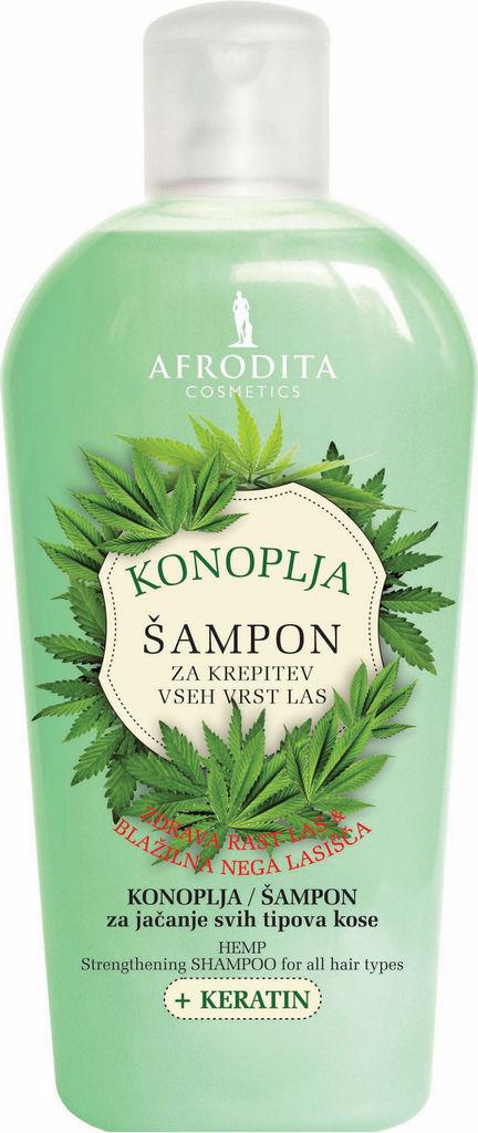 Šampon za lase Afrodita, Konoplja, 1l