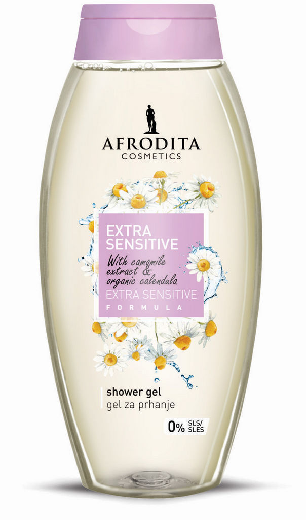 Gel za prhanje Afrodita, Extra Senzitive, 250 ml