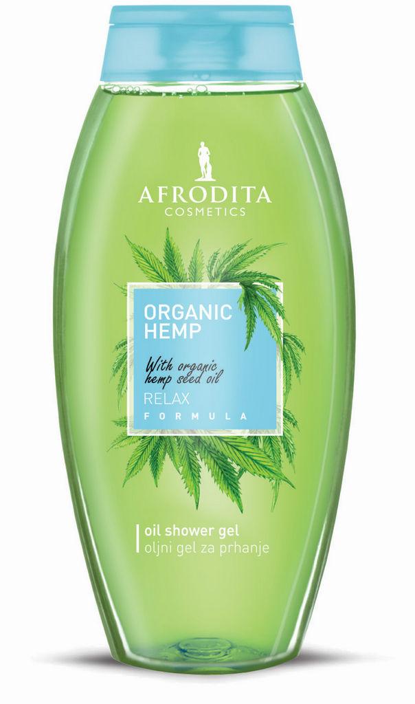 Gel za prhanje Afrodita, Organic Hemp, 250 ml