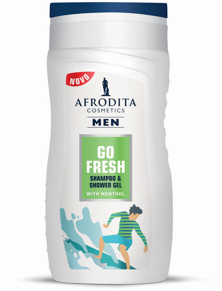 Šampon & gel za prhanje Afrodita, Men Fresh, 250 ml