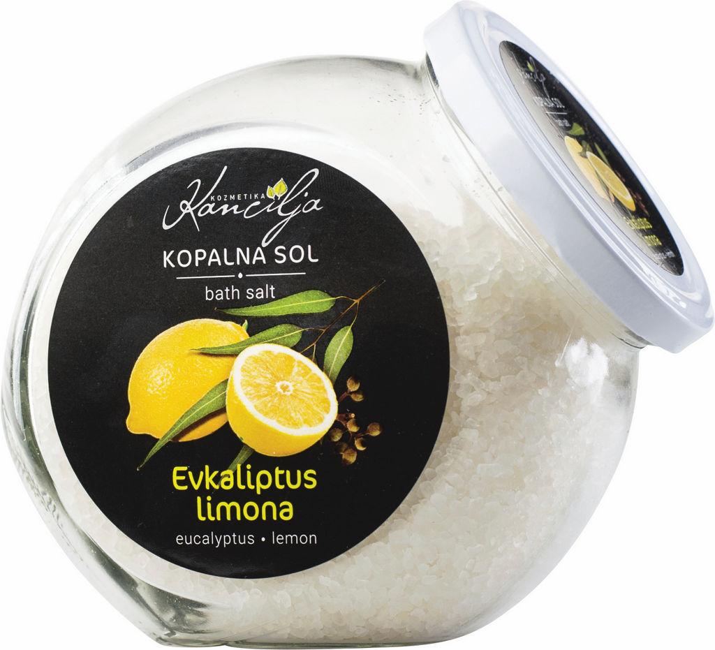 Sol kopalna Kancilija, evkaliptus, limona, 850g