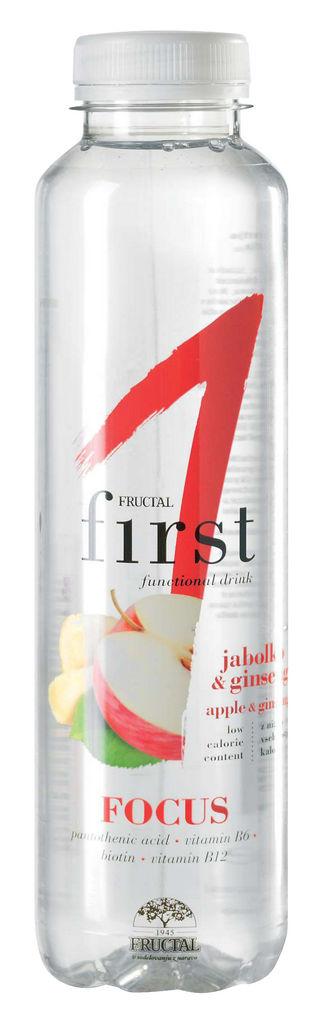 Pijača Fructal, First, jabolko, ginseng, 0,5 l