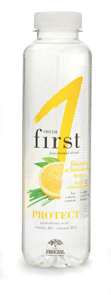Pijača Fructal First, limona, lim.trava, 0,5l
