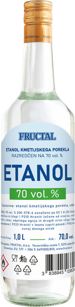Etanol, alk.70 vol%, 1 l