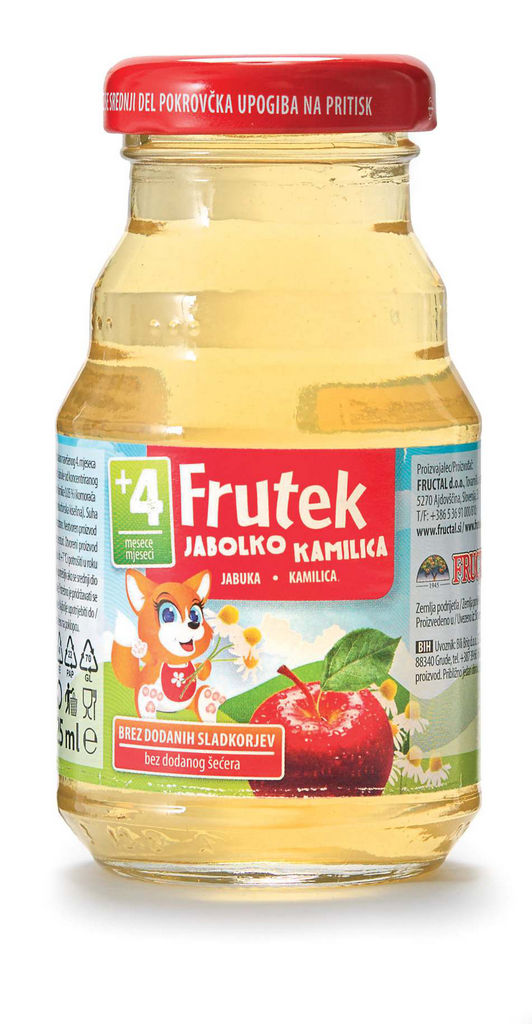 Napitek Frutek, jabolko, kamilica, komarček, 125ml