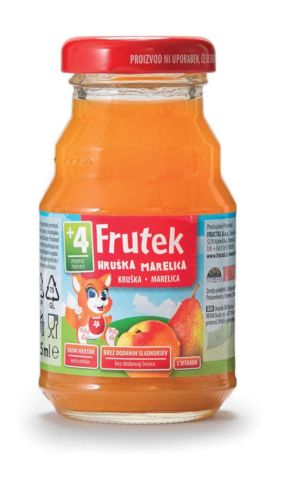 Nektar Frutek, marelica, 125 ml