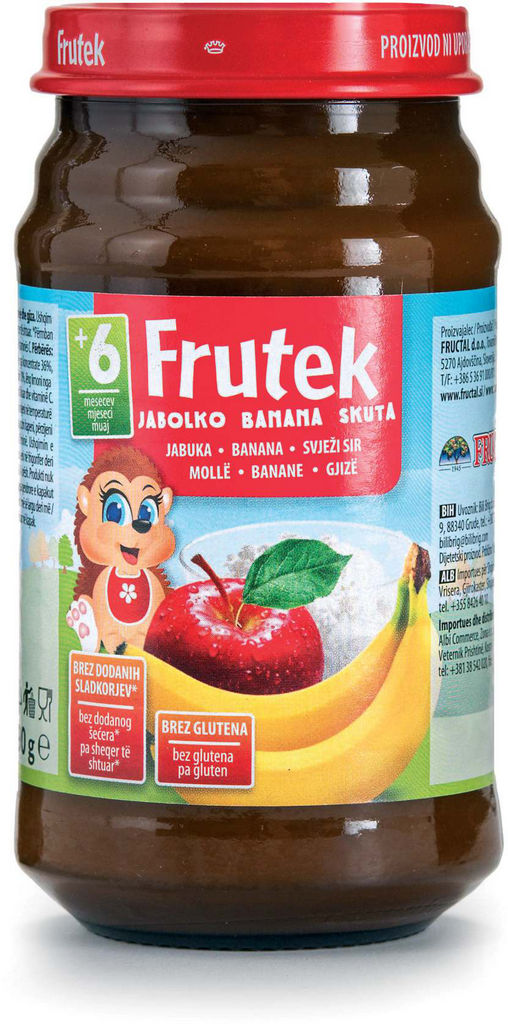 Frutek, jabolko, banana, skuta, pomaranča, 190 g