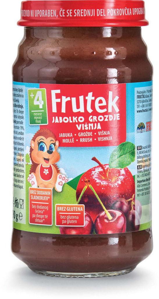 Frutek, jabolko, višnja, 190 g
