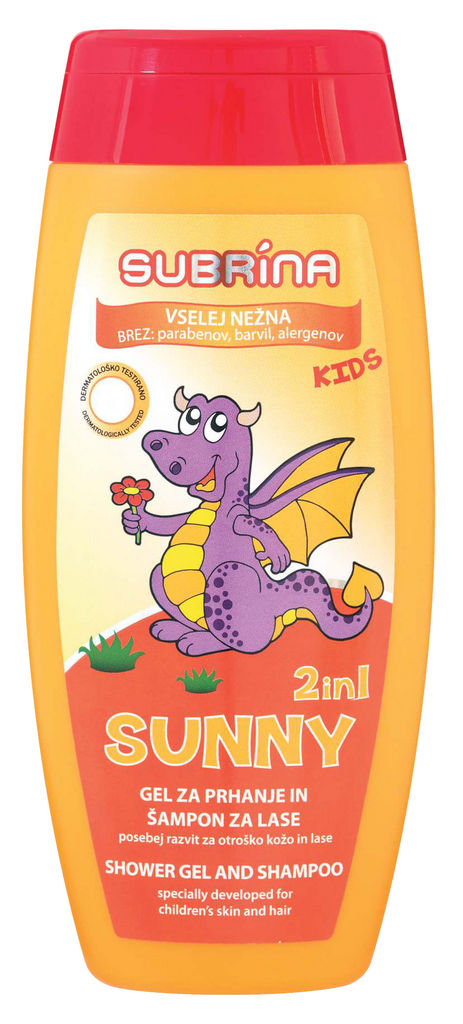 Šampon in tuš gel, Subrina, kids, 250ml