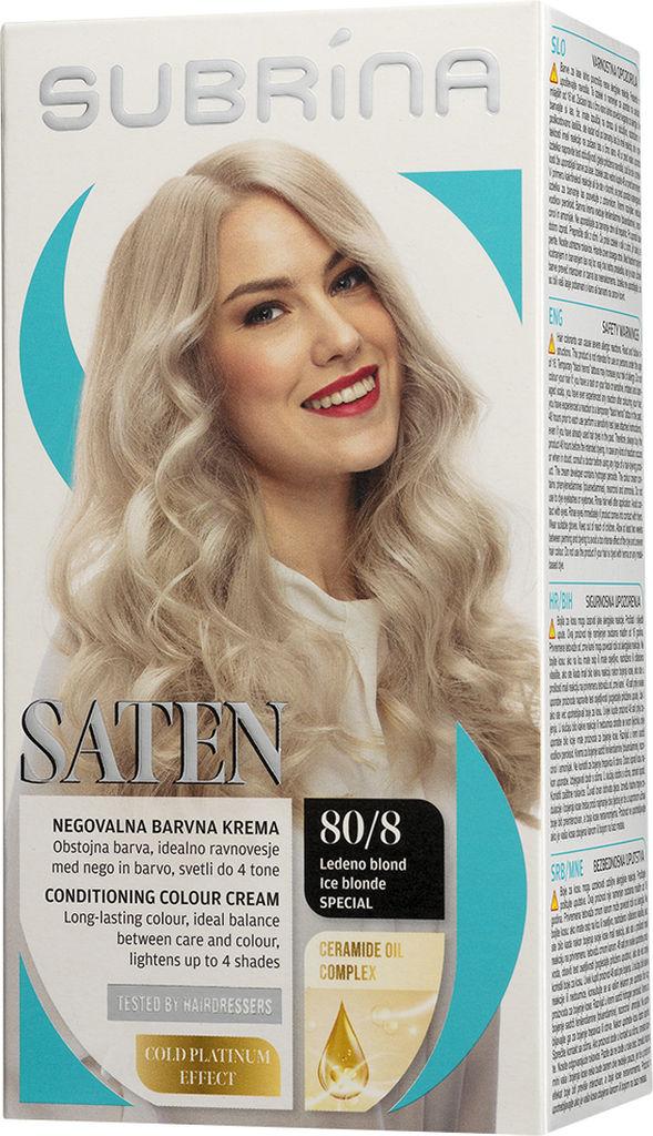 Barva za lase Subrina, Saten, ledeno blond special, 80/8