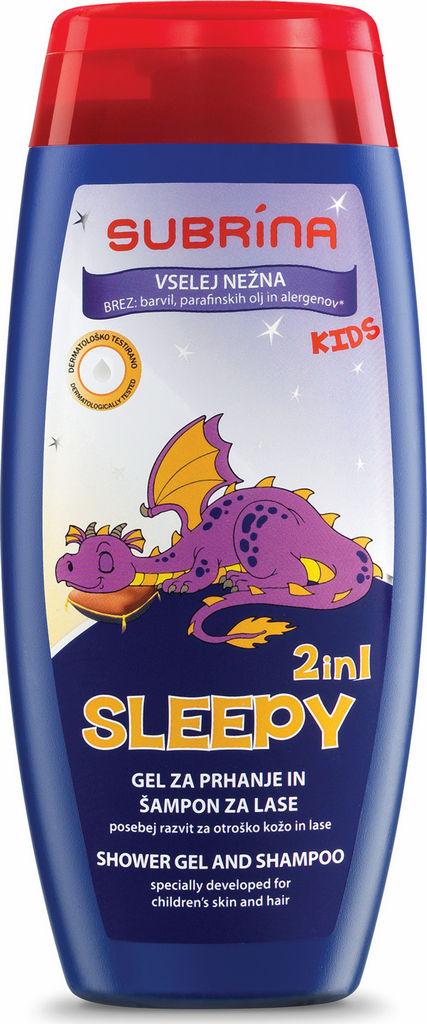 Gel za prhanje in šampon Subrina Kids, Sleepy, 250 ml