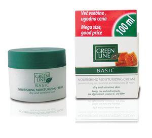 Krema Green Line, Basic hranljiva vlažilna, 100 ml