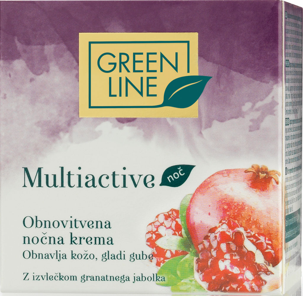Krema Green Line, Multiactive nočna, obnovitvena, 50 ml
