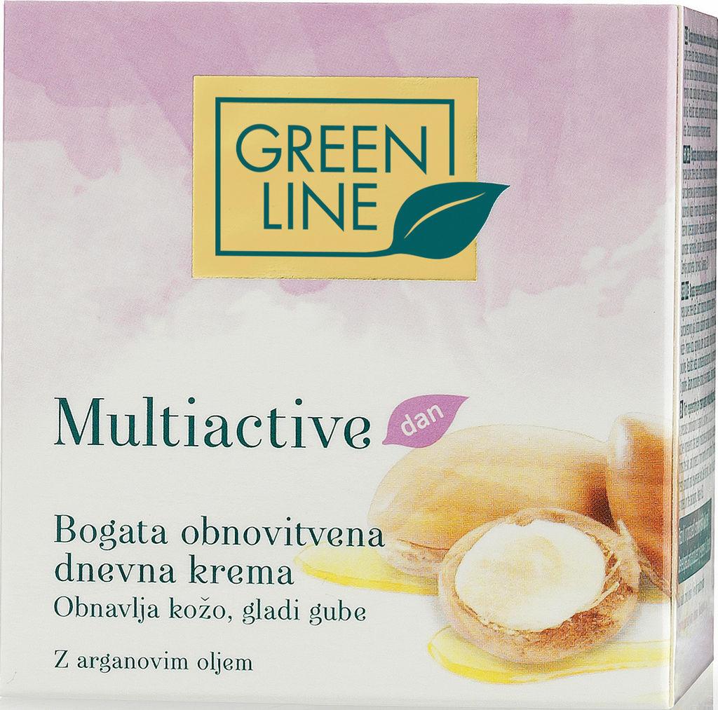 Krema Green Line, Multiactive dnevna, bogata obnovitvena, 50 ml