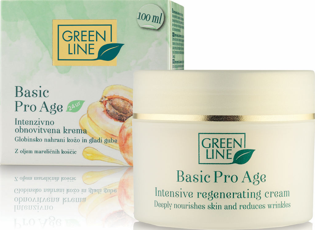 Krema Green Line, Basic Pro Age, intenzivno obnovitvena, 100 ml