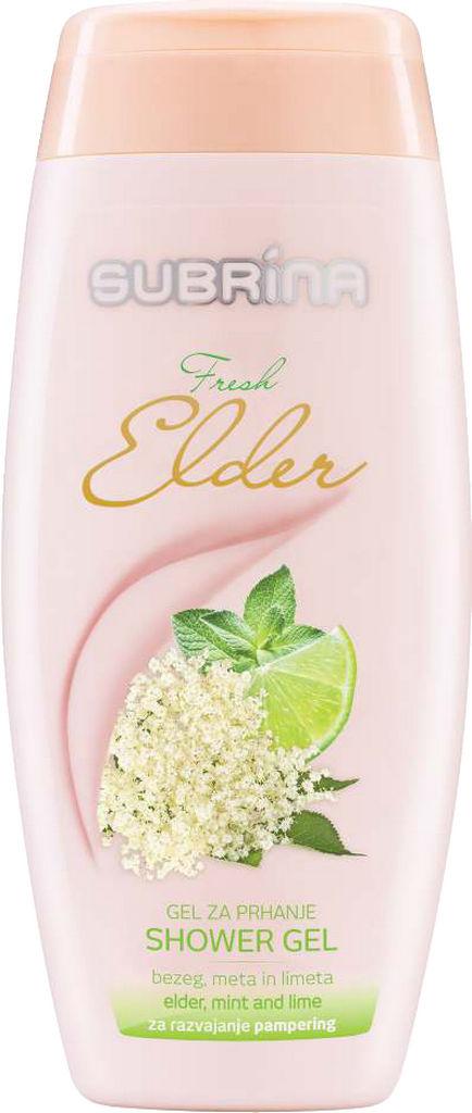 Gel za prhanje Subrina, Fresh elder, 250ml