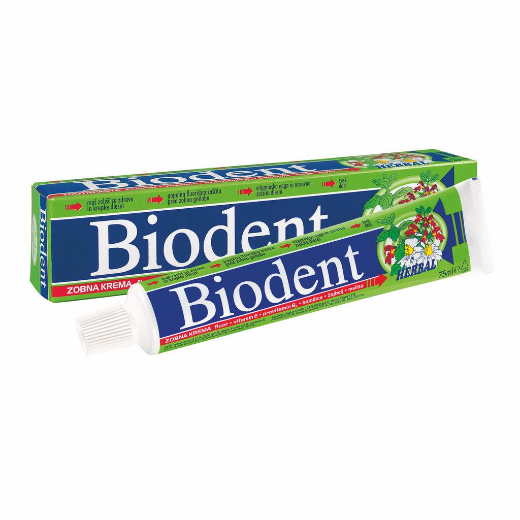 Zobna pasta Biodent, herbal, 75ml
