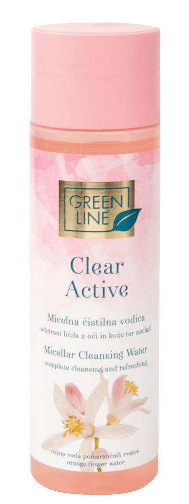 Micelna vodica Green Line, Clear active, 200 ml