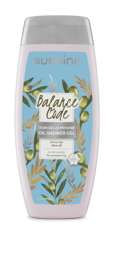 Oljni gel za prhanje Subrina, Balance code, 250 ml