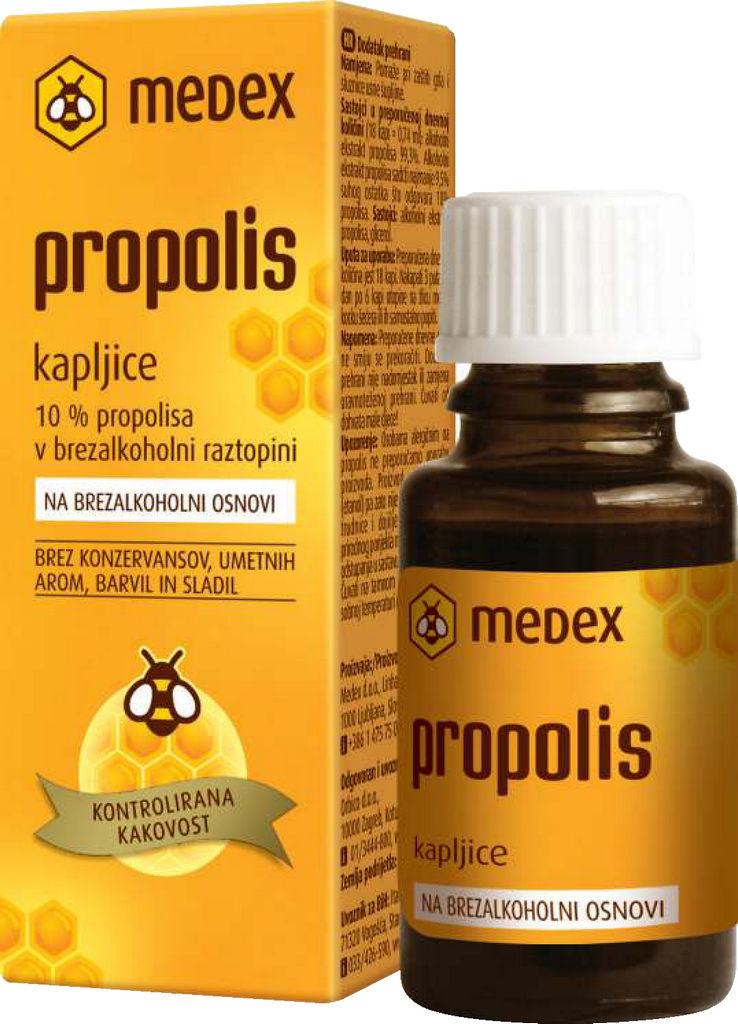 Kapljice Propolis, brez alkohlni raztopini, 15 ml