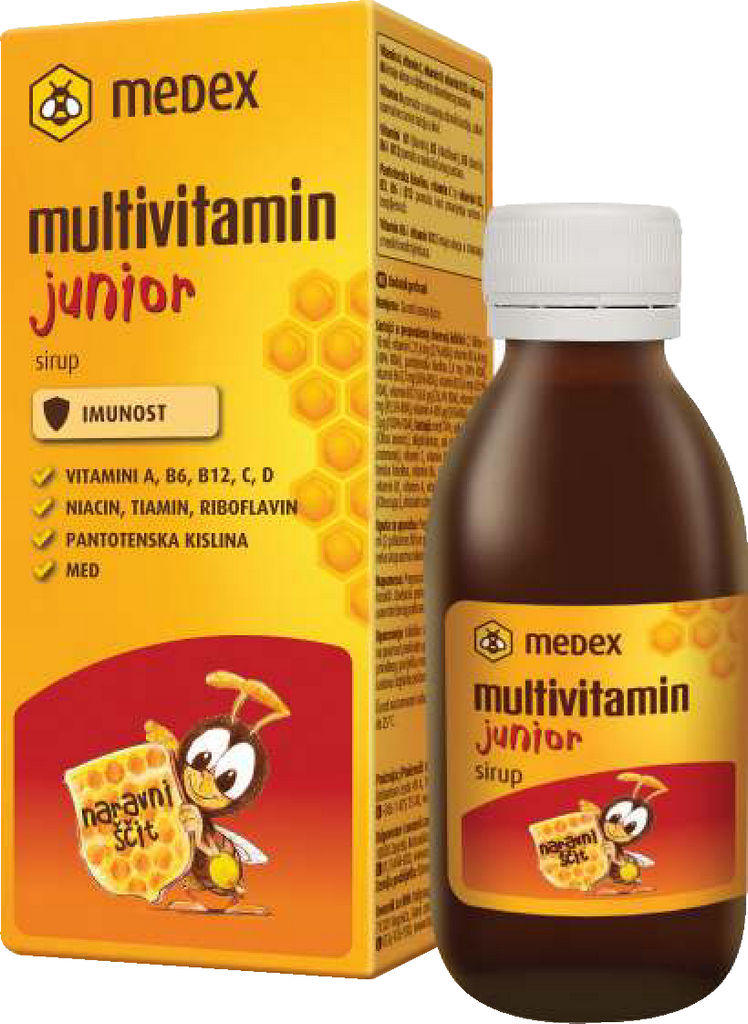 Sirup Medex, multivitamin junior, 150 ml