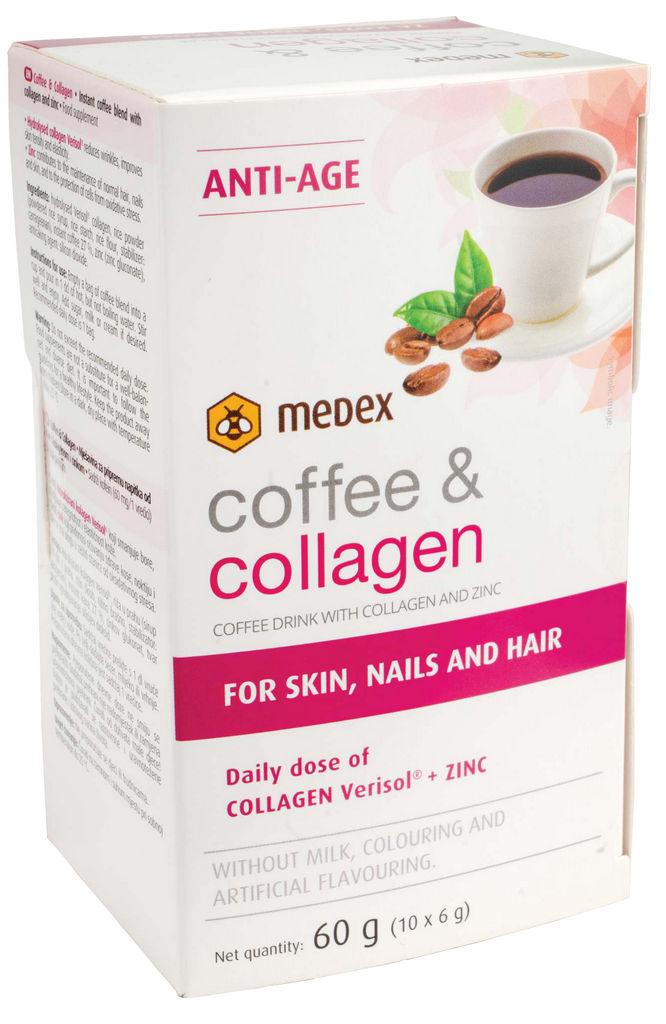 Prehransko dopolnilo Medex, Coffee & collagen, 60 g