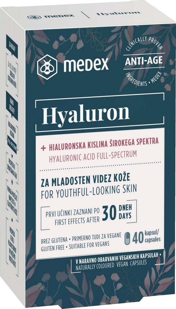 Kapsule Hyaluron Medex za mladosten videz kože, 40/1