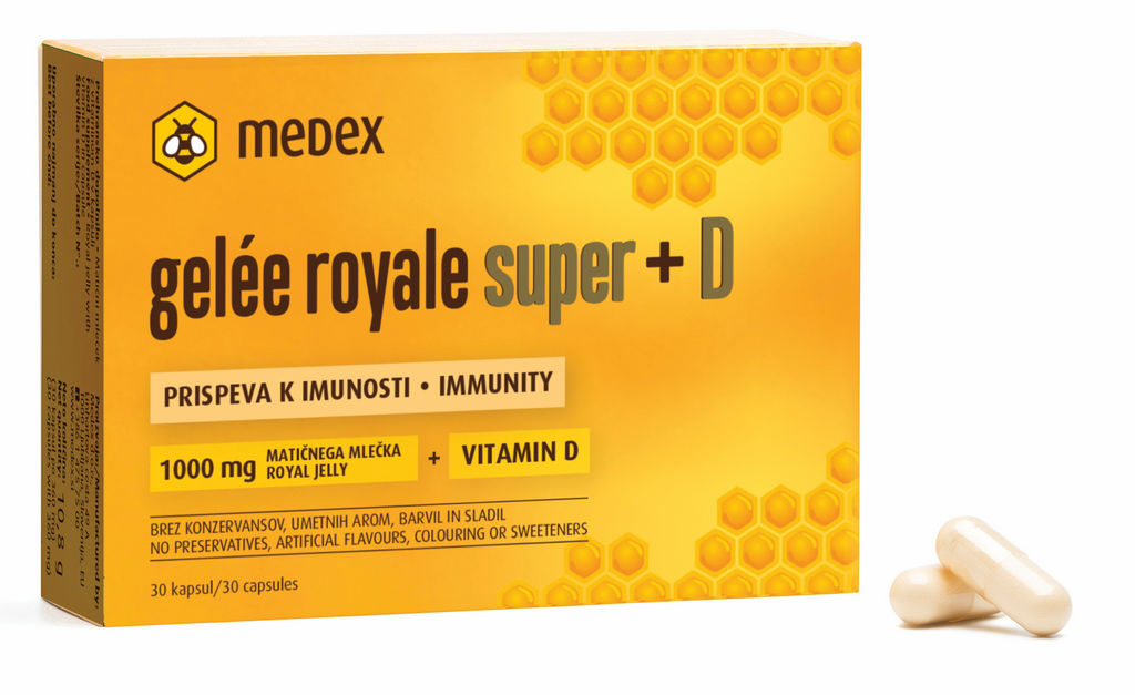 Kapsule Medex Gelee Royale Super + D, 30/1