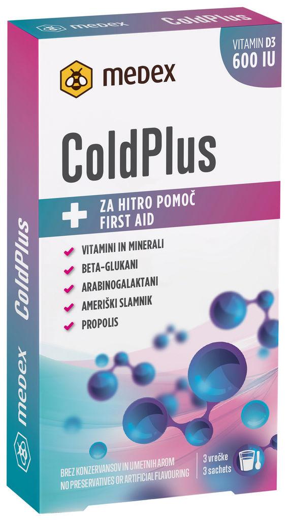 Prehransko dopolnilo Cold Plus, 3x10g