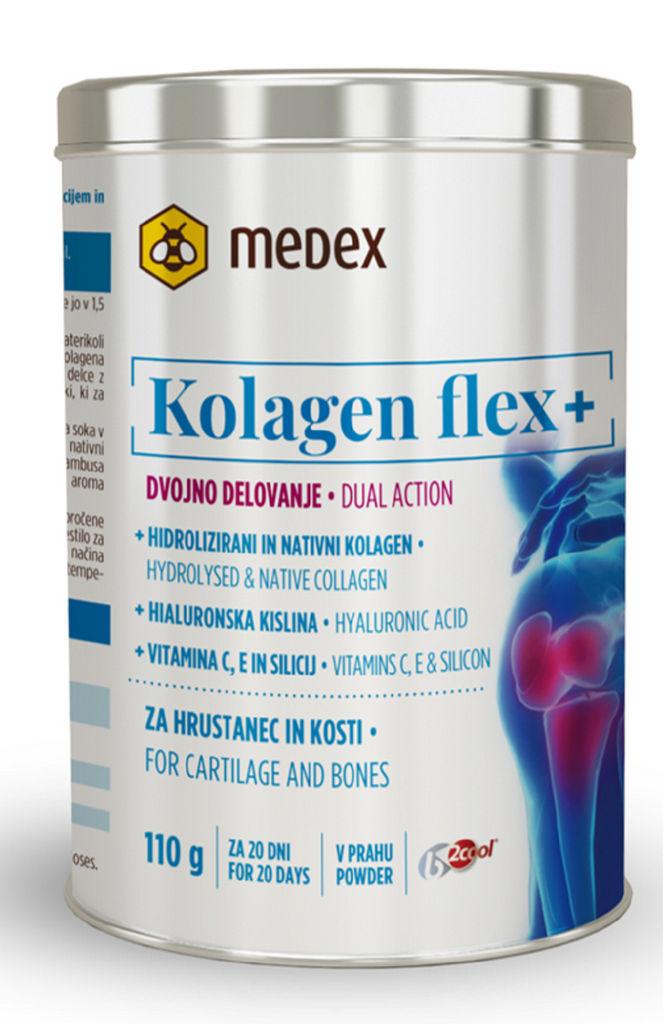 Prehransko dopolnilo Medex, Kolagenflex plus v prahu, 110 g