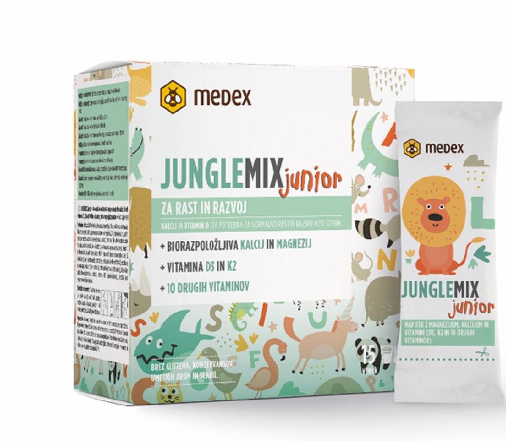 Instant napitek Medex Junglemix Junior, 15 vrečk po 8 g v prahu
