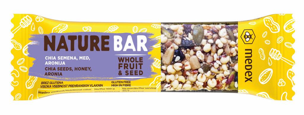 Ploščica Nature Bar, chia semena, 40 g
