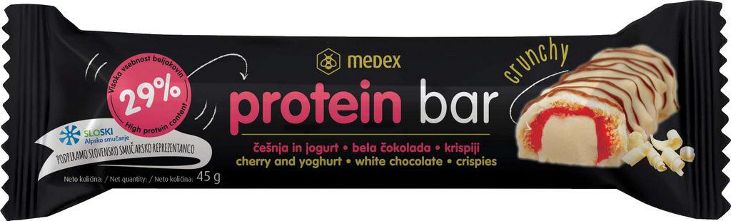 Ploščica proteinska Medex, češnja, jogurt, 45 g