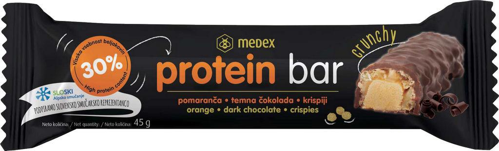 Ploščica proteinska Medex, pomaranča, 45 g