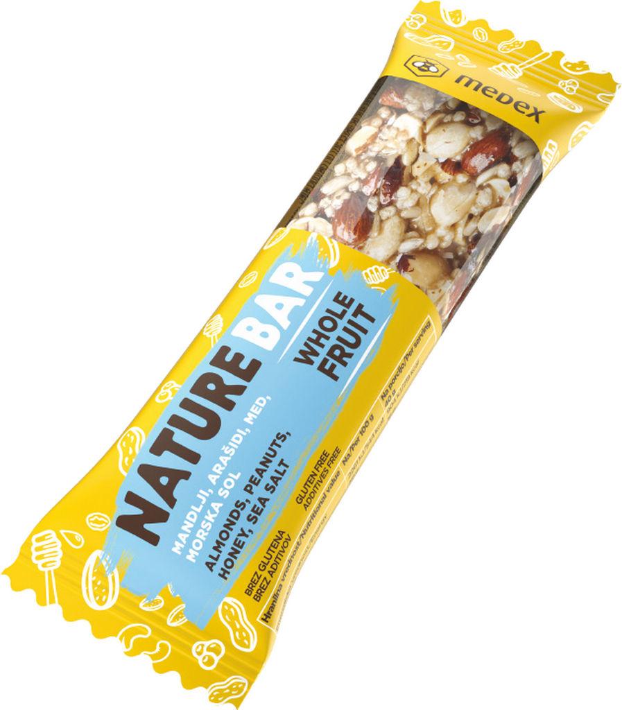 Ploščica Medex, Nature bar morska sol, 40 g