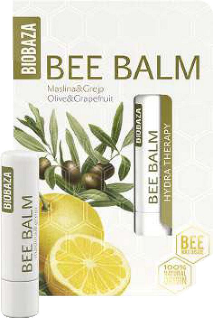 Balzam za ustnice Biobaza oljka in grenivka, 4.5g