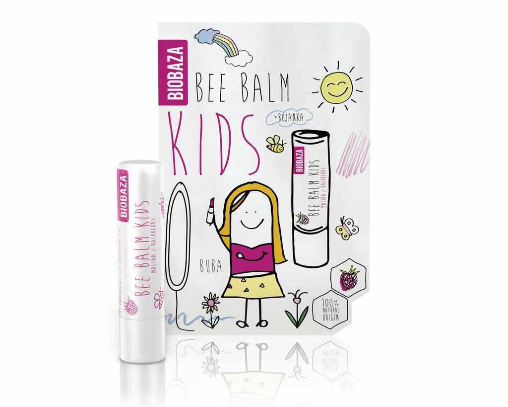 Balzam za ustnice Biobaza otroški malina, 4.5g