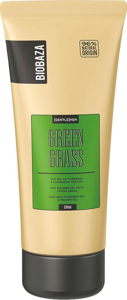 Gel za prhanje Biobaza, green grass moški, 220ml