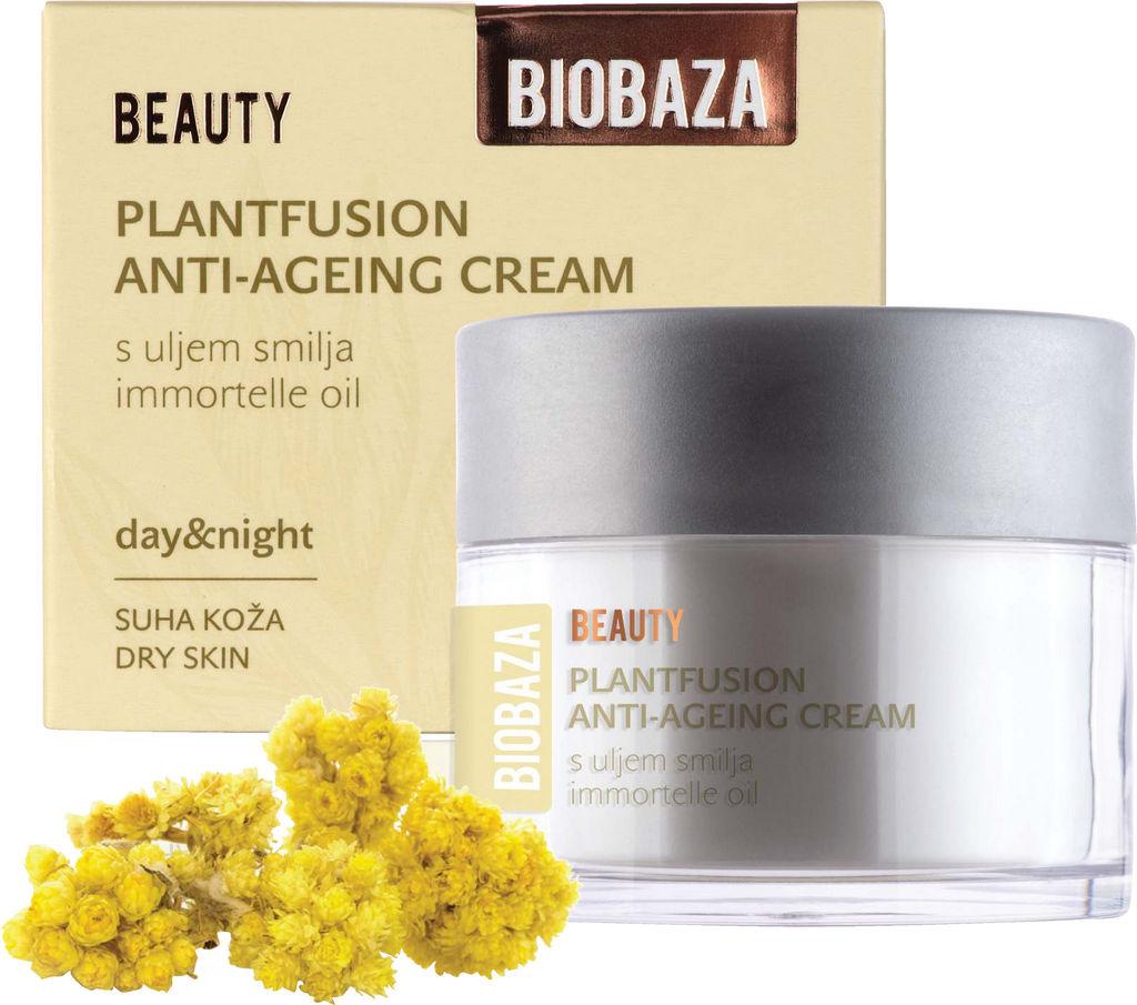 Krema za obraz Biobaza, Beauty – proti gubicam za suho kožo, 50 ml