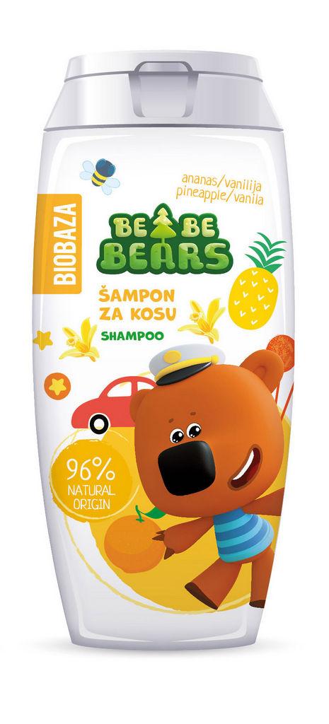 Šampon za lase Biobaza Bebe Bears, ananas, 250ml
