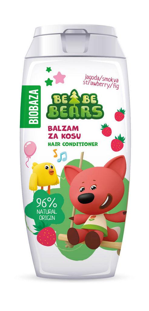Balzam za lase Biobaza Bebe Bears, jagoda& smokva, 250ml